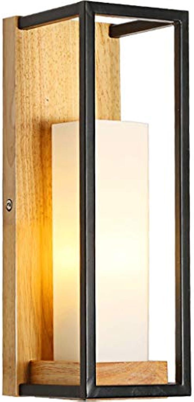 XHCP Nordic Minimalist Moderne Wandleuchte Massivholz Schlafzimmer Nachttischlampe Japanisches Holz Hot Hallway Alley Hotel
