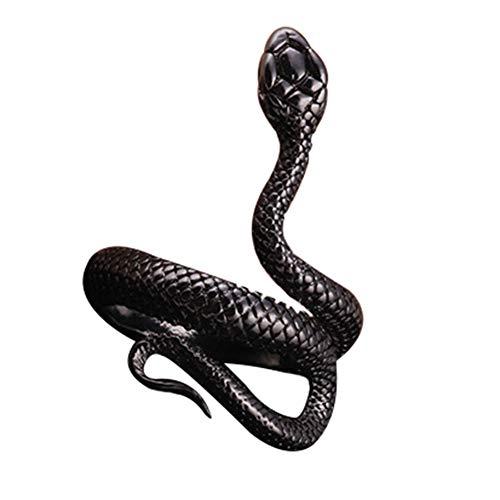 Anillo de serpiente de moda para mujer, anillo de serpiente, anillo de joyería vintage para hombres, tamaño ajustable