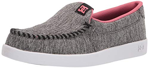 DC womens Villain Tx Se Skate Shoe, Heather Grey/Prune, 7.5 US