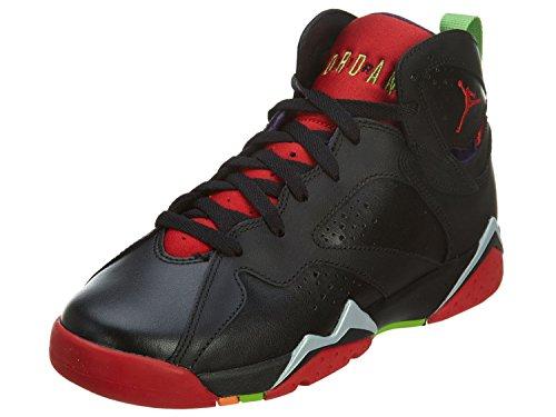 Nike Air Jordan 7 Retro BG, Scarpe da Basket Uomo, Multicolore (Negro/Rojo/Gris (Blck/Unvrsty Rd-Grn Pls-Cl Gry), 38 1/2 EU