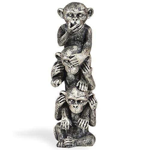 INtrenDU Deko Figuren DREI Affen Nichts hören Nichts sehen Nichts Sagen 30cm x 10cm x 10cm Geschenk für Männer und Frauen