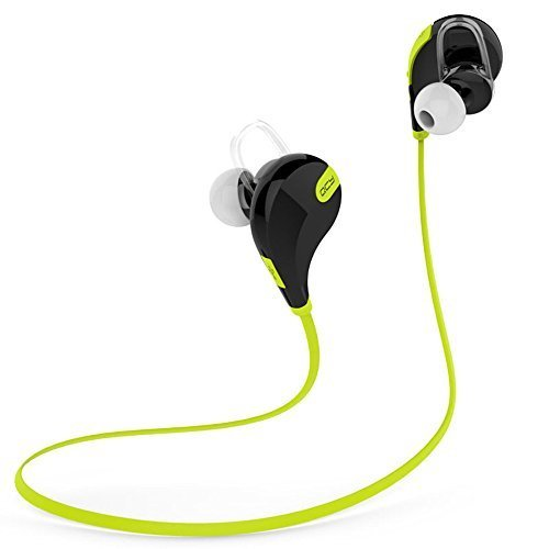 SSSabsir Venstone Bluetooth 4.1 Sport Headphone Wireless Bluetooth Earphone With Mic Bluetooth Sports Earbuds For iPhone 6,6Plus, 5S 5C 5 4S 4, iPods,HTC One,One mini, One mini 2,iPad Mini, Samsung Galaxy Note 3, Note 2, S5 S4, S3, S2,LG Optimus,LG G3,G2,MOTO X,Most Android Smart Phones, Tablets (Black/Green