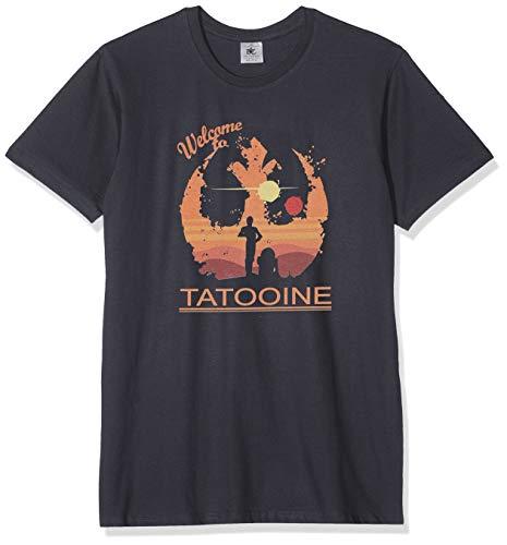 Texlab Welcome to Tatooine - Herren T-Shirt, Größe XL, Grau