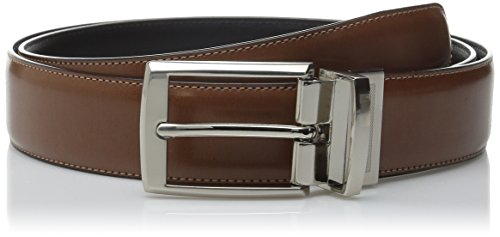Perry Ellis Men's Portfolio Tan Amigo Belt, Luggage/Black Reversible, 32