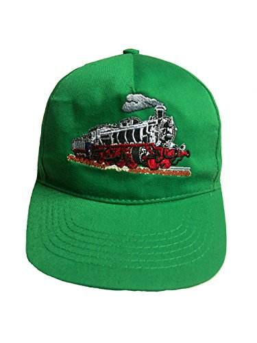 Zintgraf Jungen Baseball Kappe Dampflok Cap mit Eisenbahn Zug Stickerei (grün)