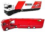 OPO 10 - Lot de 2 Camions 1/43 Compatible avec Renault Iveco F1 Ferrari McLaren Team Scuderia (A01+A02)
