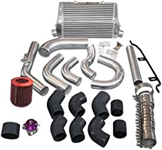 Cxracing Intercooler + Piping Kit BOV Turbo Air Filter For 98-05 Lexus IS300 2JZ-GE NA-T Black Hoses