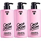 Victoria's Secret pink Three (3) Coco Lotion Coconut Oil Hydrating Body Lotion