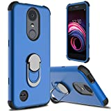 lovpec LG Aristo 3 Case, LG Aristo 2/Aristo 2 Plus/LG Tribute Empire Case, Ring Magnetic Holder Kickstand Phone Case for LG Rebel 4 LTE/LG Phoenix 4/LG Tribute Dynasty/Zone 4/Fortune 2/Risio 3 (Blue)