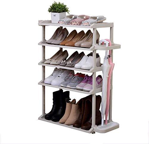 FGVBC 5 gradas Zapatero Blanco Zapatos Verticales Estante de Almacenamiento Plástico confiable