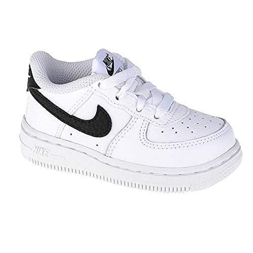 Nike Force 1 (TD), Zapatillas Deportivas Unisex niños, Blanco y Negro, 18.5 EU