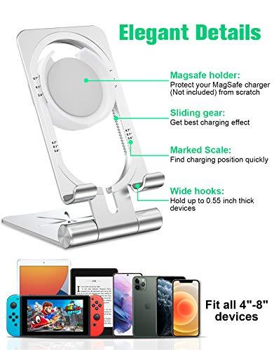 Etc. Porta Movil Mesa Ajustable para MagSafe Bovon Soporte Movil para Cargador MagSafe Samsung Base Carga Plegable para Cargador MagSafe Compatible con iPhone 12 Pro Max//12Pro//12//12Mini//11 Pro Max