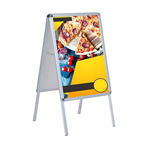 HOMCOM A1 Plakatständer Kundenstopper Werbeaufsteller Gehwegaufsteller Werbetafel