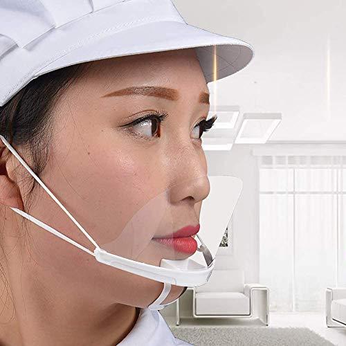 PANHU 500 Stück Transparente Atmungsaktive Plastike Permanenter Mund Gesicht Tattoo Reinigungsmittel Küchenchefs Hotel Kellner Permanent Make-up Tattoo Zubehör