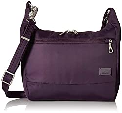 Pacsafe Women's Citysafe Cs100 Anti-theft Travel Handbag-Mulberry Cross-Body Bag, One Size