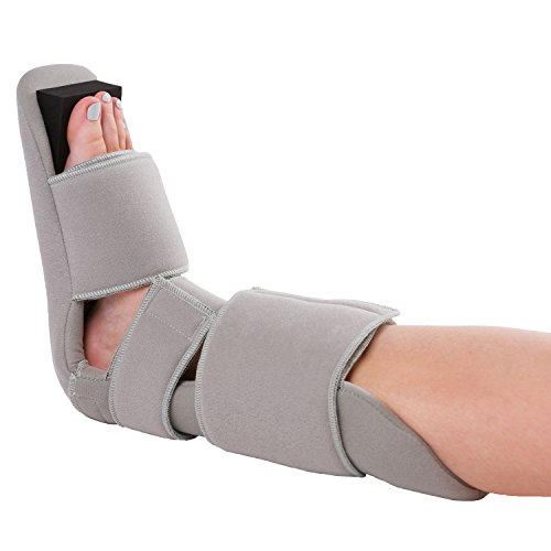 BraceAbility Padded 90 Degree Plantar Fasciitis Boot   Soft Night Splint to Stabilize Foot and Ankle, Stretches Plantar Fascia Ligament and Supports Achilles Tendon (Small)