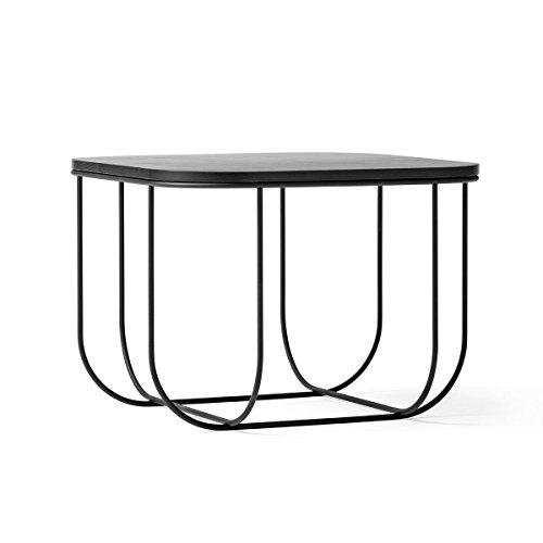 Menu Table d'appoint Cage, Acier, Noir, H 30cm, B 43cm, L 43cm