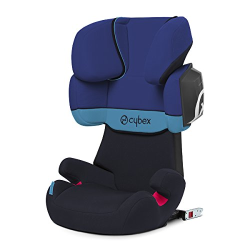 Cybex Silver Solution X2-Fix Silla de Coche, Grupo 2/3, Azul (Blue Moon)