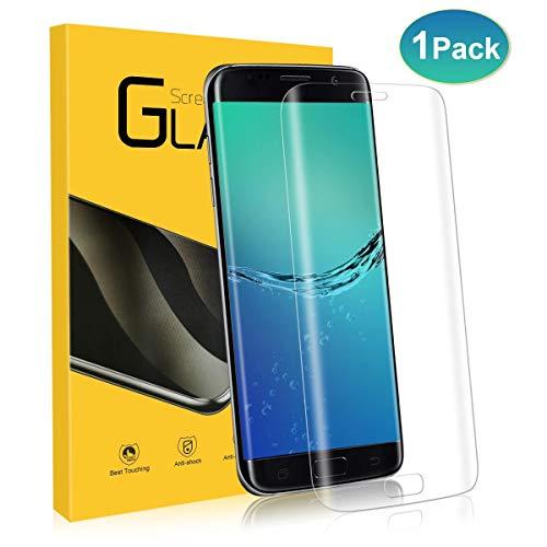 NONZERS Panzerglasfolie für Samsung Galaxy S7 Edge, [1 Stück] 9H Härtegrad, 3D Vollständigen Abdeckung Displayschutzfolie, Blasenfreie, Anti-Kratzen HD Panzerglas Schutzfolie für Samsung S7 Edge