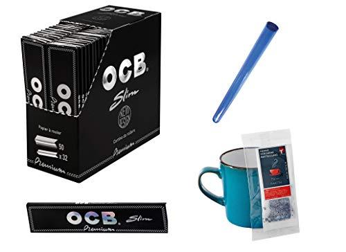 OCB KS Schwarz Premium Slim 50 Hefte je 32 Blatt Jointhülle