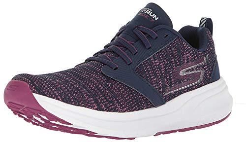 Skechers Performance Go Run Ride 7, Zapatillas Deportivas para Interior para Mujer, Azul (Navy/Purple), 36 EU
