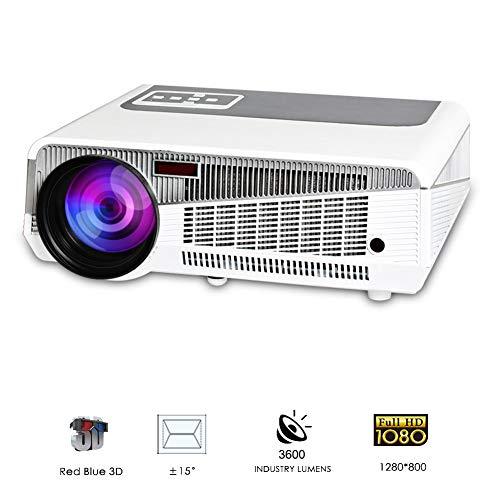 HD digitale projector 1080p outdoor indoor 3600 lumen, 150 inch video bioscoop, thuisbioscoop met USB HDMI VGA-handel voor laptop iPhone Smartphone Mac spel, aa