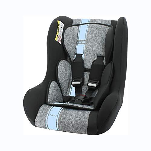 Nania Trio Autositz Gruppe 0/1/2, Rücken mit Straße, bis 13 kg, Französisches Produkt, Blau 0 – 25 kg