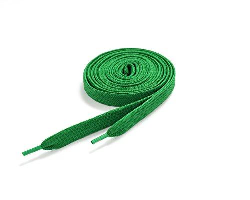 Underground Kulture Lacets de Skate - Vert 11mm x 120cm (Flat Green Shoelaces)