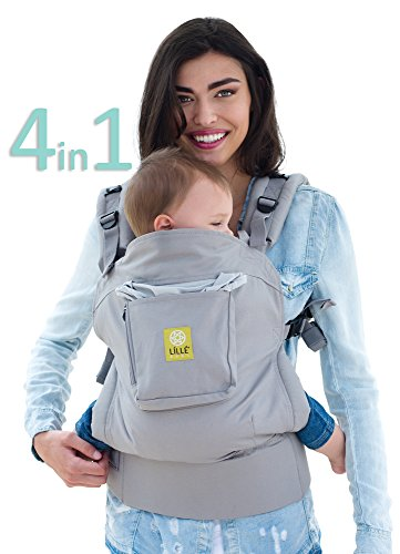 LÍLLÉbaby 4-in-1 Essentials Original Ergonomic Baby & Child Carrier, Stone - 100% Cotton