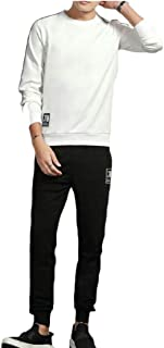 Maweisong Men's Gym Jogging Long Sleeve Tracksuit Joggers Set