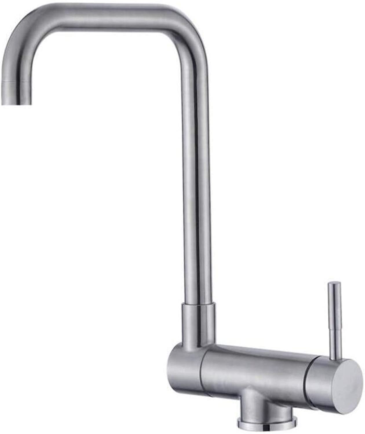 Bathroom Faucet 304 Stainless Steel Kitchen redating Faucet Folding Down Hot and Cold Water Faucet Sink Low Window Faucet