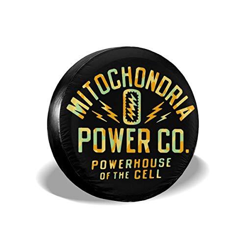 yyndw Wheel Tire Cover Mitochondrien-Kraftpaket Der Zelle Reifenabdeckung 4 Größen Reifendurchmesser Rad Reifenabdeckung Passend Für Viele Fahrzeuge Bunter Druck Universal Dust Proof 16in/76~79cm