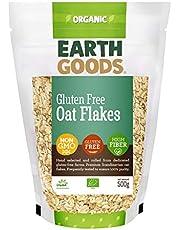 Earth Goods Organic Gluten-Free Oat Flakes, NON-GMO, Gluten-Free, High Fiber 500g