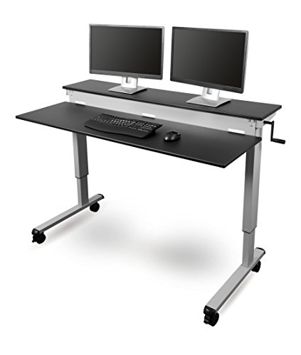 Stand Up Desk Store Crank Adjustable Sit to Stand Up Computer...