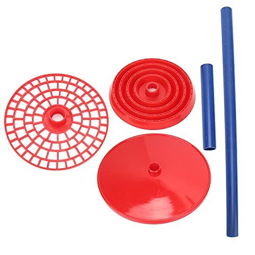 Veloraa Pipettenständer, 98 Löcher Pipettenhalter Labor-Pipettenständer Pipettenständer-Halterständer Rot für Labor