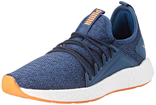 Puma NRGY Neko Knit Jr Laufschuhe Unisex-Kinder, Blau (Gibraltar Sea-Peacoat-Jaffa Orange-Puma White), 38 EU