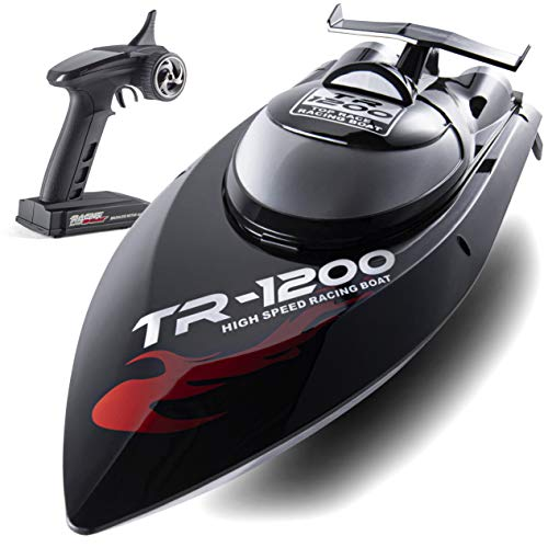 Top Race Remote Control Boat, 30 MPH Rc Boats for Adults, Rc Boat for Lakes, Auto Flip Recovery, Professional Series, Fastest Rc Racing Pool Boat Speed Boat Gift