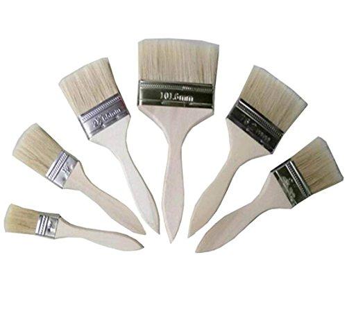 ericotry Lot DE 5 Assortis Taille Poils Peinture Peinture Pinceaux 2,5 cm à 12,7 cm pour Les Taches Vernis colles et Gesso Peinture pour Murs et Meubles Taches projets d'artisanat Occasions