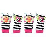 OhhGo 2 pares de calcetines de sonajero para bebé de dibujos animados lindos...