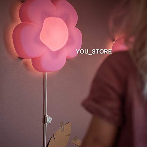 IKEA UPPLYST LED wandlamp kinderkamer bloem paars