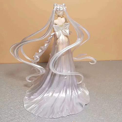 QIYHB 25cm Sailor Moon Anime Figur Moon Hare Brautkleid Premium Edition Skulptur Dekoration Dekoration Statue Figur Modell Spielzeugpuppe