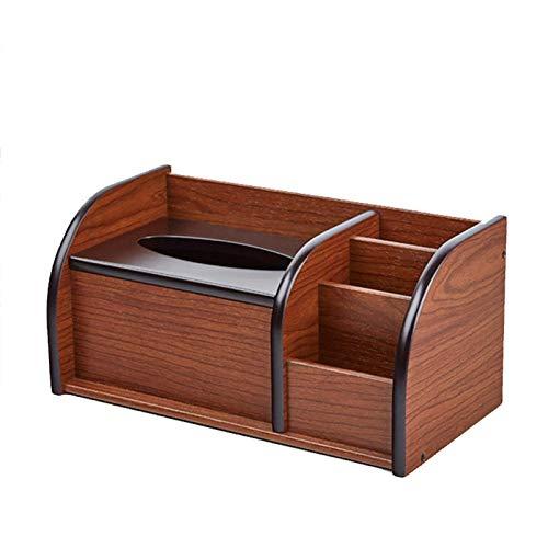 Hoist Caja multitejido, mando a distancia y caja de pañuelos dispensador de lápices, organizador de escritorio con caja de pañuelos, bandeja multifunción para toallas, oficina y hotel