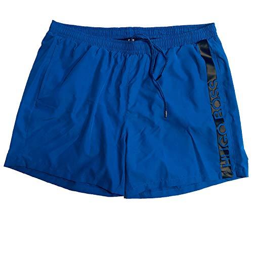 Hugo Boss BOSS Swimwear Herren Badeshort Dolphin Plus Big Size Übergröße (5XL, Medium Blue (424))