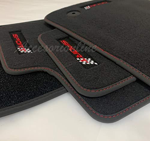 Accesorionline Alfombrillas Velour Premium para Seat Leon I 1999-2005 con Bordes en...