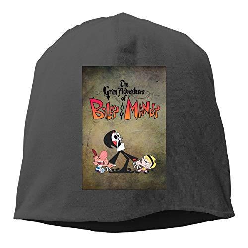 FUGVO Black The Grim Adventures of Billy and Mandy Fascinator Hat Gorra de Cobertura Brillante