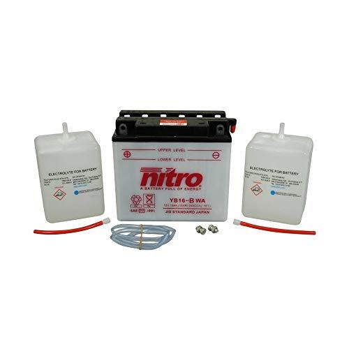 Motodak accu 12 V 19 Ah YB16B Nitro onderhoudsinstructies (Lg175 x B100 x H155)