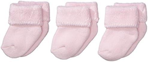 Sterntaler Primeros Calcetines Pack de 3, Edad: a partir de 0 meses, Talla: Recién nacidos (Talla 0), Rosa