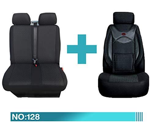 Maß Sitzbezüge kompatibel mit Fiat Ducato Typ 250 1+2 Fahrer mit Doppelsitzbank ab BJ 2006-2013 Farbnummer: 128