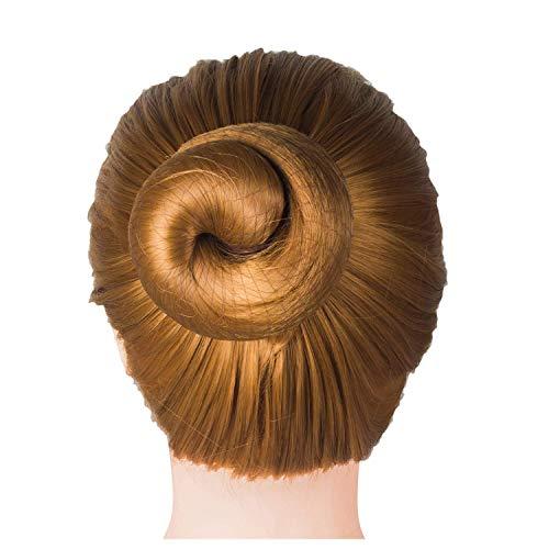 DILISEN 20 pcs Filets à Cheveux Invisibles Maille de Bord élastique pour Les Femmes Chignon, café (café)