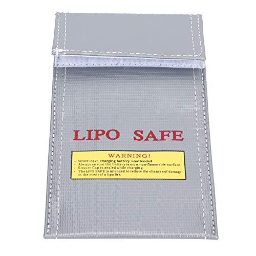 Gaeirt Caja De Seguridad para Batería, Bolsa De Batería De Diseño Portátil A Prueba De Explosiones para Protección De Batería